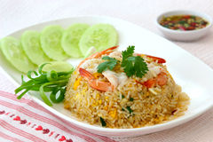 Fried rice with shimp Royalty Free Stock Photo