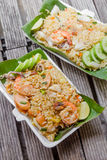 Fried rice with shimp Stock Photography