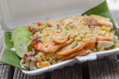 Fried rice with shimp Royalty Free Stock Image