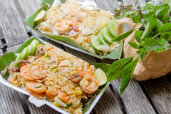 Fried rice with shimp Royalty Free Stock Photos