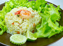 The fried rice and shrimp Royalty Free Stock Image