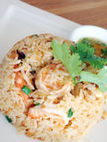 Fried rice with shrimp. Royalty Free Stock Images