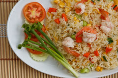 Fried rice with shrimp. An asian style fried rice with shrimp , Popular dish in china and Thailand Stock Photos