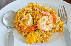 Fried rice with shrimp Royalty Free Stock Image