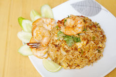 Fried rice with shrimp Stock Photography