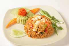 Fried rice with shrimp Royalty Free Stock Photography