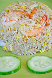Fried rice with shrimp. Stock Photos