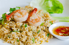 Fried rice and shrimp Royalty Free Stock Photography