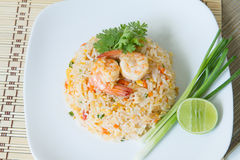 Fried rice with shrimp. Asia food , fried rice with shrimp ,easy and delicious food Stock Photography