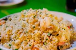 Fried rice and  shrimp Stock Photo