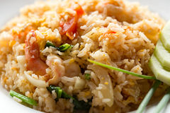 Fried rice with shrimp close up Royalty Free Stock Photography