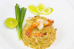 Fried rice with shrimp Royalty Free Stock Photo