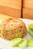 Fried rice with shrimp Royalty Free Stock Photos