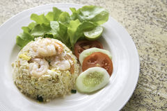 Fried rice with shrimp menu Royalty Free Stock Images
