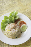 Fried rice with shrimp menu Royalty Free Stock Photos