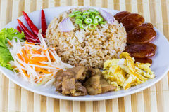 Fried rice with shrimp paste Royalty Free Stock Photo