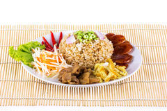 Fried rice with shrimp paste Royalty Free Stock Image