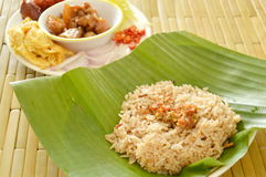Fried rice with shrimp paste and side dish prepare to mixed Royalty Free Stock Images