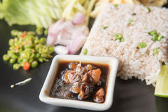 Fried rice with Shrimp paste, Stock Photos