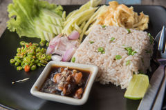 Fried rice with Shrimp paste, Royalty Free Stock Images
