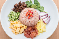 Fried rice with Shrimp paste. Thai food Stock Images