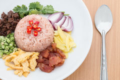 Fried rice with Shrimp paste. Thai food Stock Image
