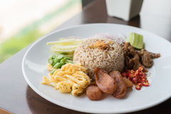 Fried Rice with Shrimp Paste. Royalty Free Stock Images