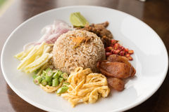 Fried Rice with Shrimp Paste. Stock Image