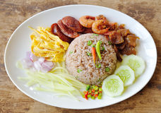 Fried rice with Shrimp paste Stock Image