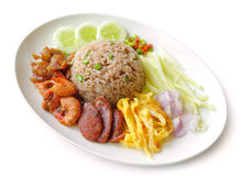 Fried rice with Shrimp paste Royalty Free Stock Images