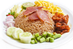 Fried rice with Shrimp paste. Stock Photo