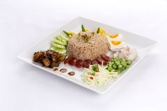 Fried rice with Shrimp paste Stock Photos