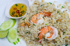 Fried rice with shrimp Stock Photos