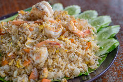 Fried rice with shrimp Royalty Free Stock Images