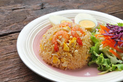 Fried rice with shrimp. Stock Photography