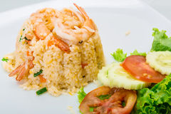 Fried rice with shrimps Royalty Free Stock Image