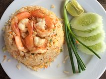 Fried rice with shrimps. Thai food Stock Photography