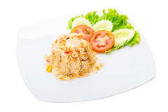 Fried rice with shrimps Royalty Free Stock Photo