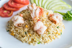 Fried rice with shrimps Royalty Free Stock Images