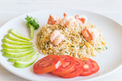 Fried rice with shrimps Royalty Free Stock Photography