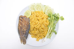 Fried rice spicy soup with fish Royalty Free Stock Image