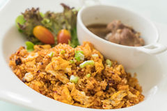 fried rice with steamed pork ribs Stock Photography