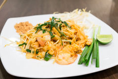 Fried Rice Stick Noodle with Shrimp royalty free stock photography