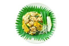 Fried Rice Sticks avec la crevette images libres de droits