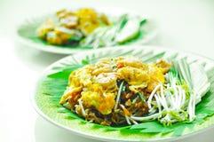 Fried Rice Sticks con gamberetto Immagini Stock