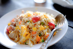 Fried rice with Strawberry Royalty Free Stock Images
