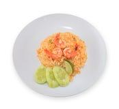 Fried rice thai food,Shrimp fried rice. Royalty Free Stock Image