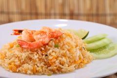Fried rice thai food,Shrimp fried rice. Royalty Free Stock Photo
