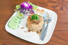 Fried rice thai food. On teble Royalty Free Stock Photos