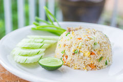 Fried rice thai style royalty free stock photo
